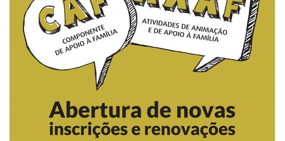 Inscrições CAF e AAAF da Freguesia de Benfca