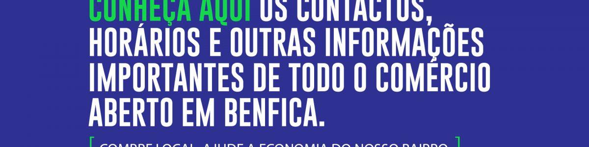Contactos Comércio de Benfica abertos Covid-19